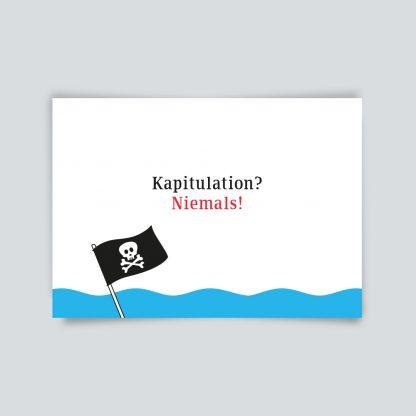 Maritime Postkarte. Kapitulation? Niemals!