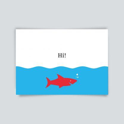 Maritime Postkarte. Hi!