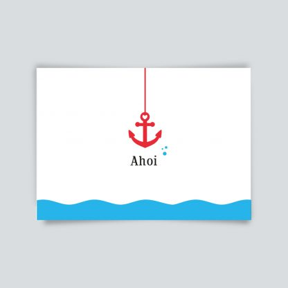 Maritime Postkarte. Ahoi!