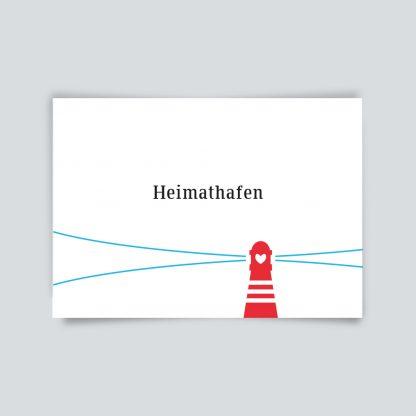 Maritime Postkarte. Heimathafen.