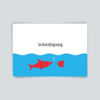 Maritime Postkarte. schuldigung