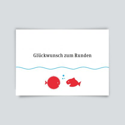 Maritime Postkarte. Glückwunsch zum Runden