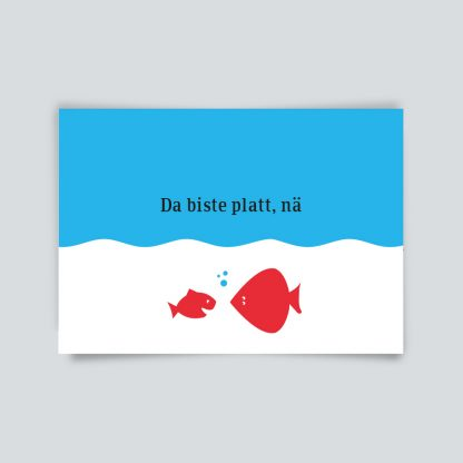 Maritime Postkarte. Da biste platt