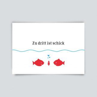 Maritime Postkarte. Zu dritt ist schick