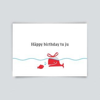 Maritime Postkarte. Happy Birthday