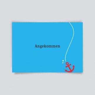 Maritime Postkarte. Angekommen