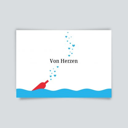Maritime Postkarte. von Herzen