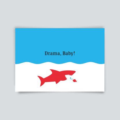 Maritime Postkarte. Drama Baby