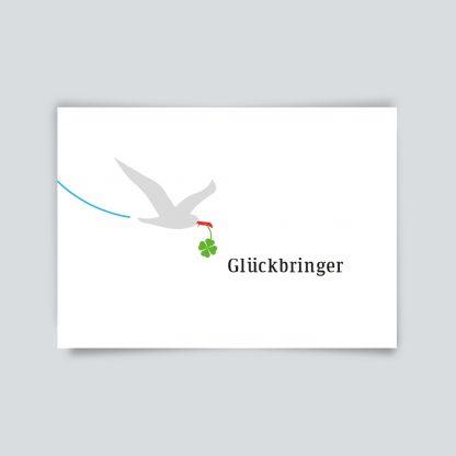 Maritime Postkarte. Glückbringer