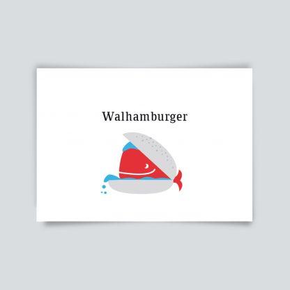 Maritime Postkarte. Walhamburger