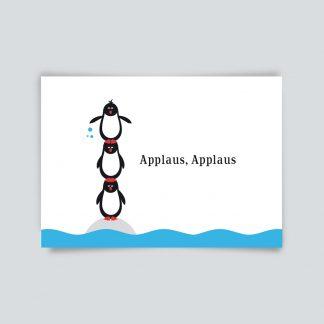 Maritime Postkarte. Applaus, Applaus