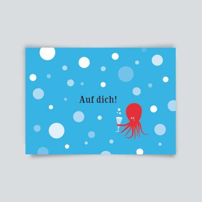 Maritime Postkarte. Auf dich!