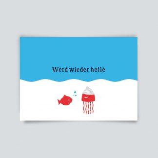 Maritime Postkarte. Werd wieder heile