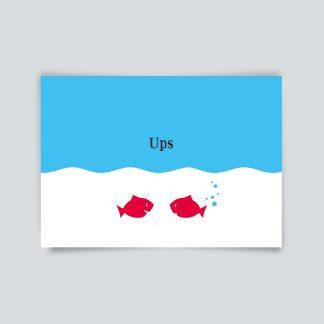 Maritime Postkarte. ups