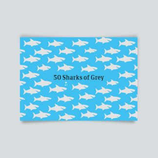 Maritime Postkarte. 50 sharks of grey