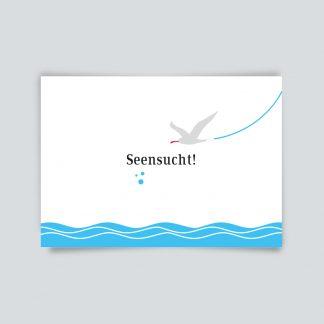 Maritime Postkarte. Seensucht