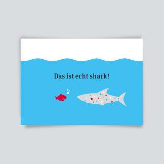 Maritime Postkarte. Das ist shark