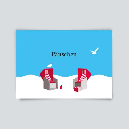 Maritime Postkarte. Päuschen