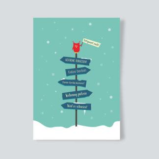 """Weihnachtskarte """"Entspannt euch"""""""
