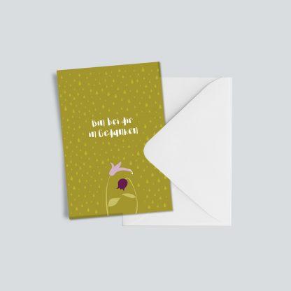 "Trauerkarte ""Bin bei dir in Gedanken"" 1"