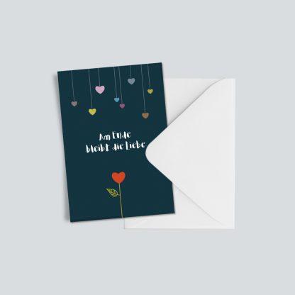 """Trauerkarte """"Am Ende bleibt die Liebe"""" 1"""