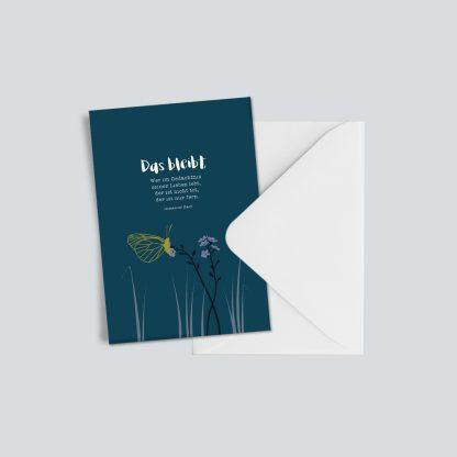 """Trauerkarte """"Das bleibt"""" 1"""