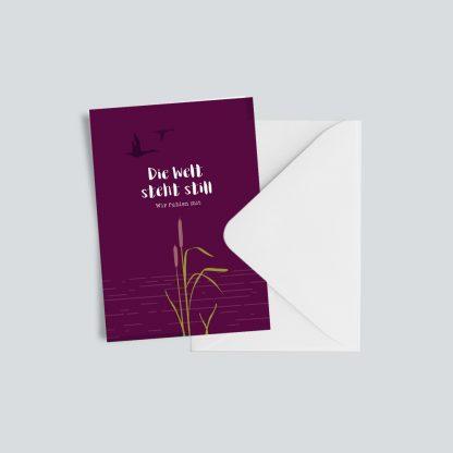 """Trauerkarte """"Die Welt steht still"""" 1"""