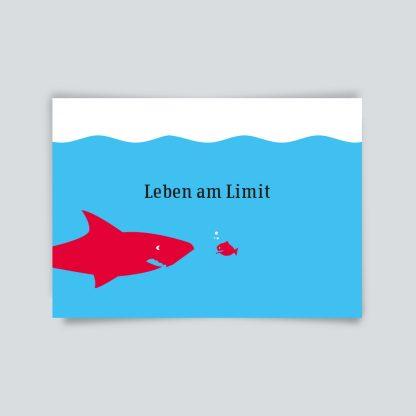 Maritime Postkarte. Leben am Limit.