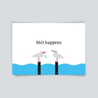 Maritime Postkarte. Shit happens