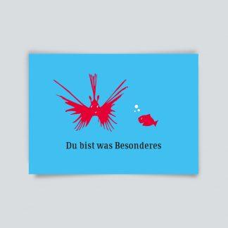 Maritime Postkarte. Du bist was Besonderes.
