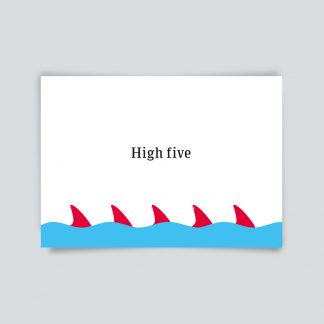 Maritime Postkarte. High five.
