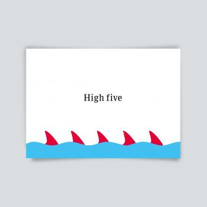 Maritime Postkarte. High five.