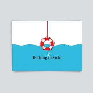 Maritime Postkarte. Rettung