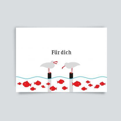 Maritime Postkarte. Auf dich.