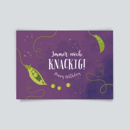 Immer noch knackig - Postkarte