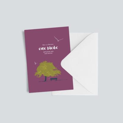 """Trauerkarte """"Eine Bleibe"""" 1"""