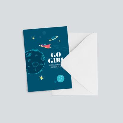 """Grußkarte """"Go Girl"""" 1"""