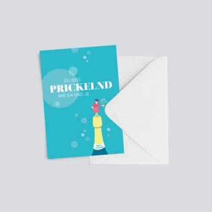 """Geburtstagskarte """"Prickelnd"""""""