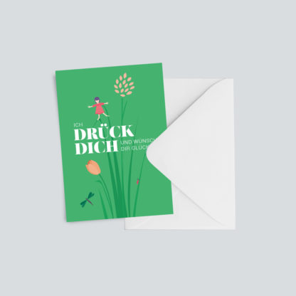 "Geburtstagskarte ""Drück dich"""