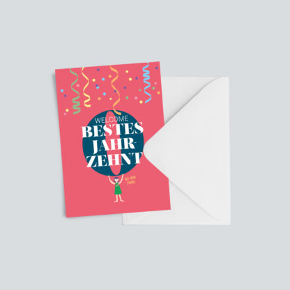 """Geburtstagskarte """"Bestes Jahrzehnt"""""""
