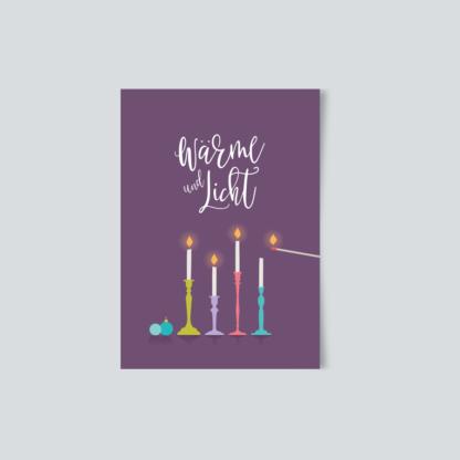 Weihnachtskarte Wärme und Licht
