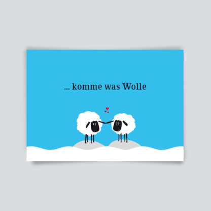 """Postkarte """"Komme was Wolle"""""""