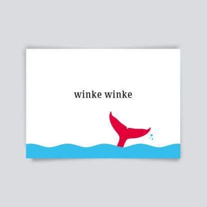 """Postkarte """"winke winke"""""""