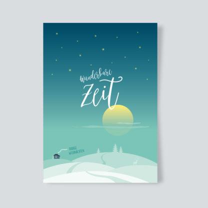 Weihnachtskarte Wunderbare Zeit