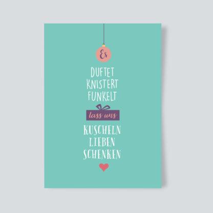 Weinhnachtskarte duftet