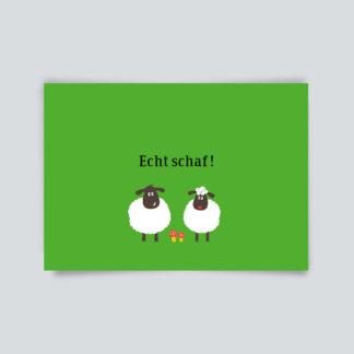 Postkarte Echt schaf