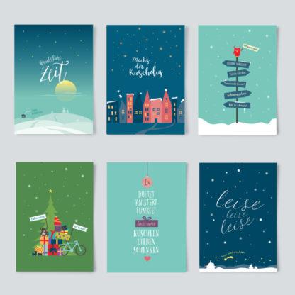 Weihnachtskarten paket