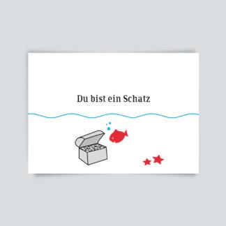 Postkarte Schatz