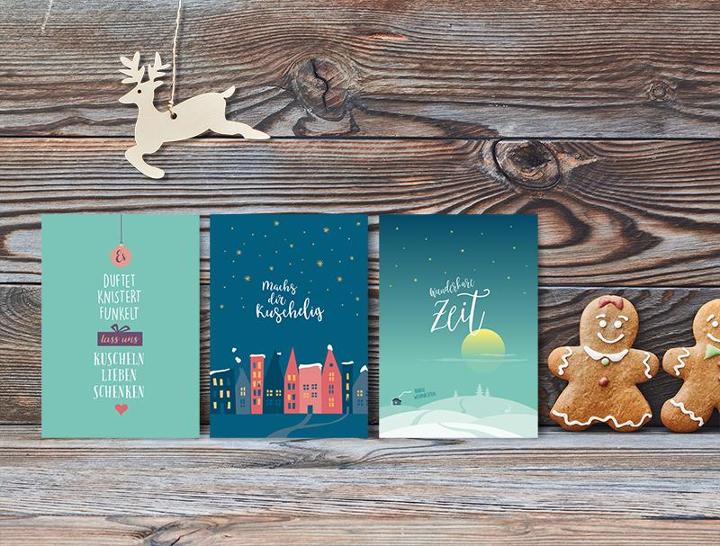 Schöne Weihnachtskarten