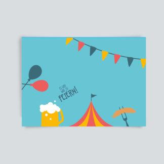 postkarte feiern